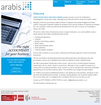 Picture of Arabis Accountants website