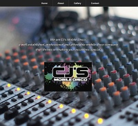 Picture of CJ's Mobile Disco website