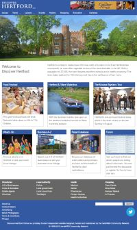 Picture of Discover Hertford Online website