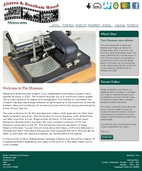 Picture of Elstree & Borehamwood Museum's website